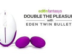 Eden Twin 12 Functions Bullets by EdenFantasys - Commercial