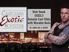 Nick Hawk dildo with movable balls by Cal Exotics - Commercial