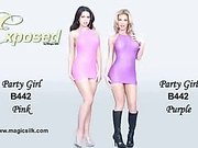 Exposed party girl Collection by Magic Silk - Commercial