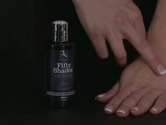 Fifty Shades of Grey sensual bath oil by LoveHoney - Commercial