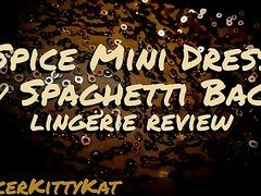 Spice Mini Dress with Spaghetti Back Review
