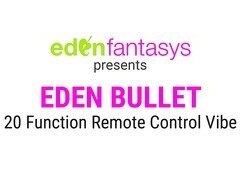 Eden 20 function remote control vibrating bullet by Eden Toys - Commercial