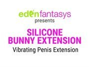 Silicone extension with vibrating bunny by Eden Toys - Commercial