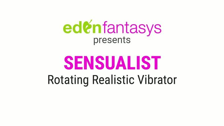 Sensualist rotating realistic vibrator by Aphrodisia - Commercial