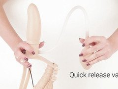 Inflatable silicone dual strap-on by Eden Toys - Commercial